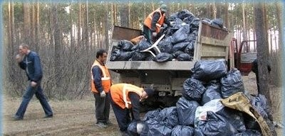 мусор с погрузкой транспортерами